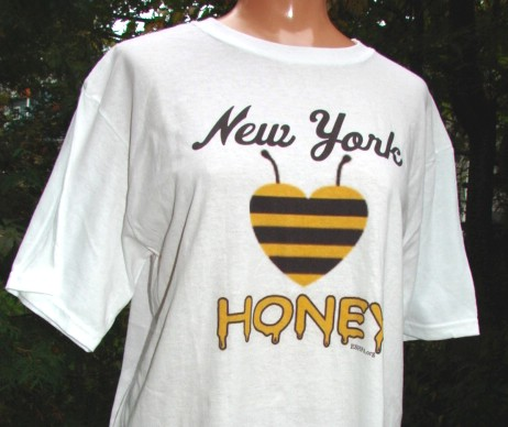 New York Honey Heart T-Shirt, 100% Cotton  (select size)